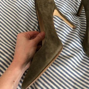 Olive green Suede pumps Banana Republic size 6